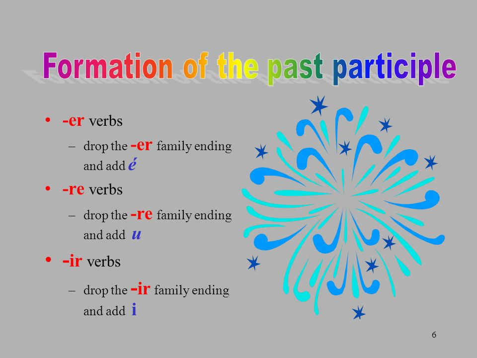 Formation of the past participle
