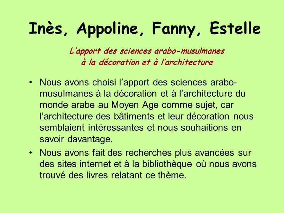 Inès, Appoline, Fanny, Estelle