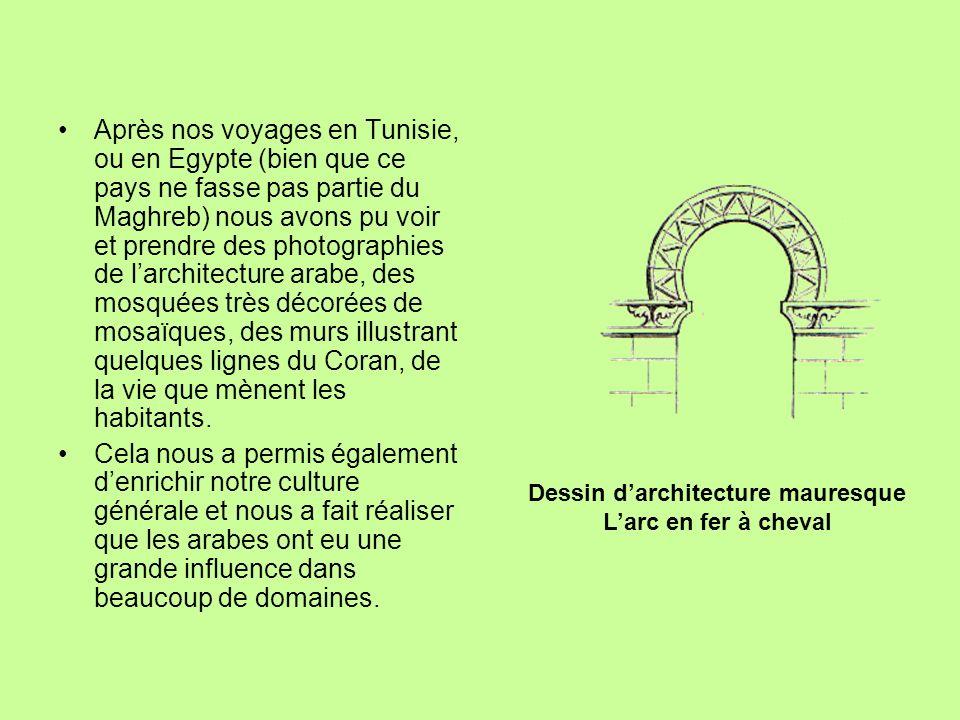Dessin d'architecture mauresque
