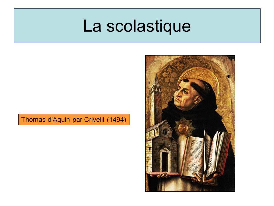 La scolastique Thomas d'Aquin par Crivelli (1494)