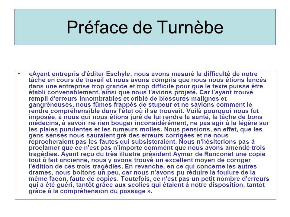 Préface de Turnèbe
