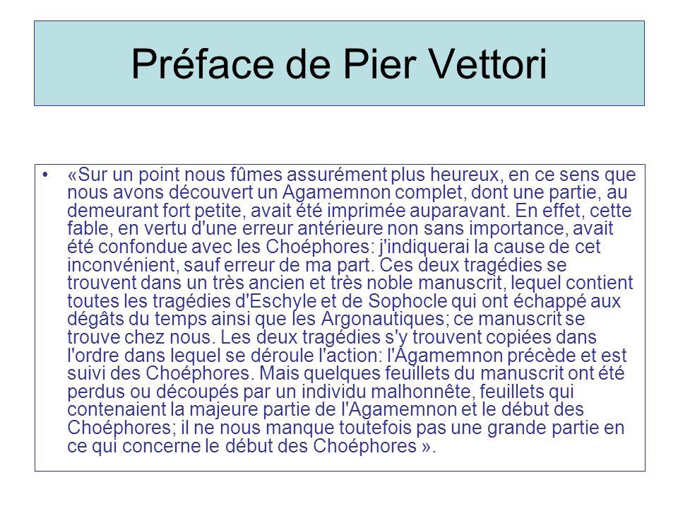 Préface de Pier Vettori