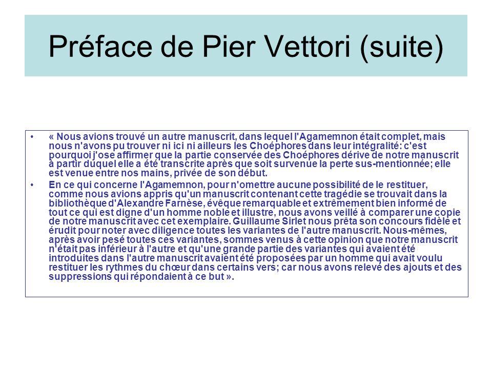 Préface de Pier Vettori (suite)