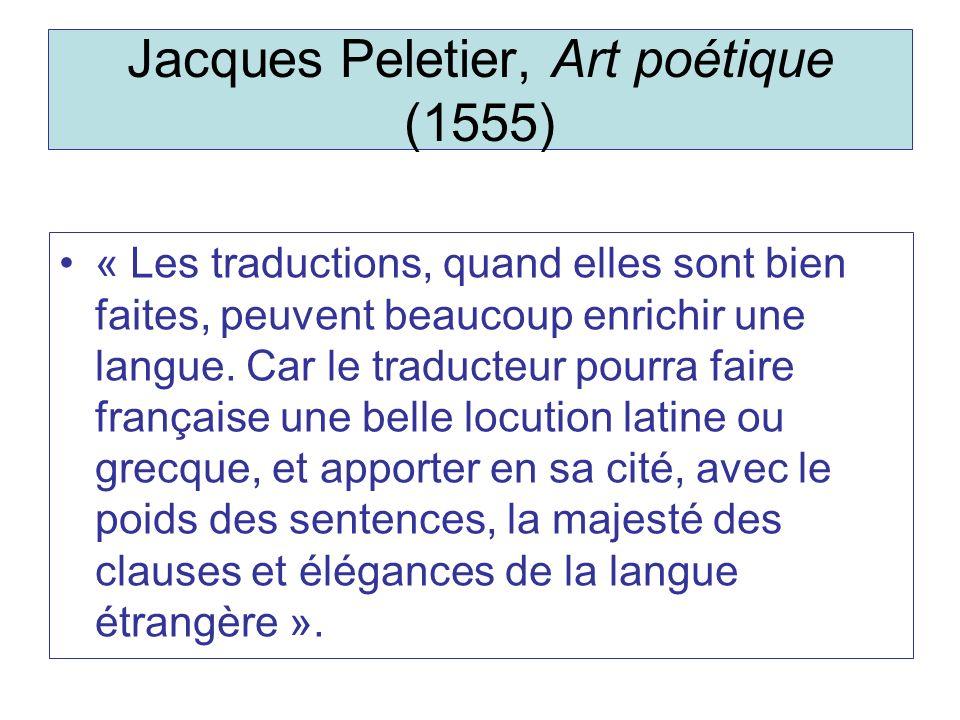 Jacques Peletier, Art poétique (1555)