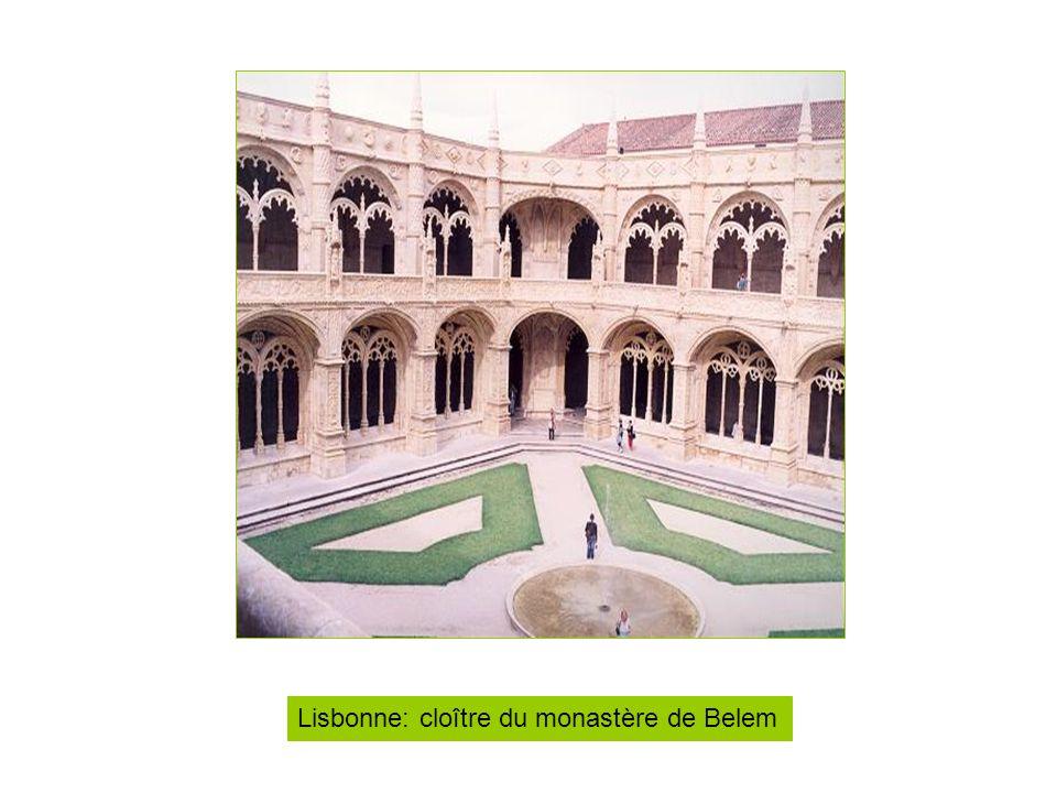 Lisbonne: cloître du monastère de Belem