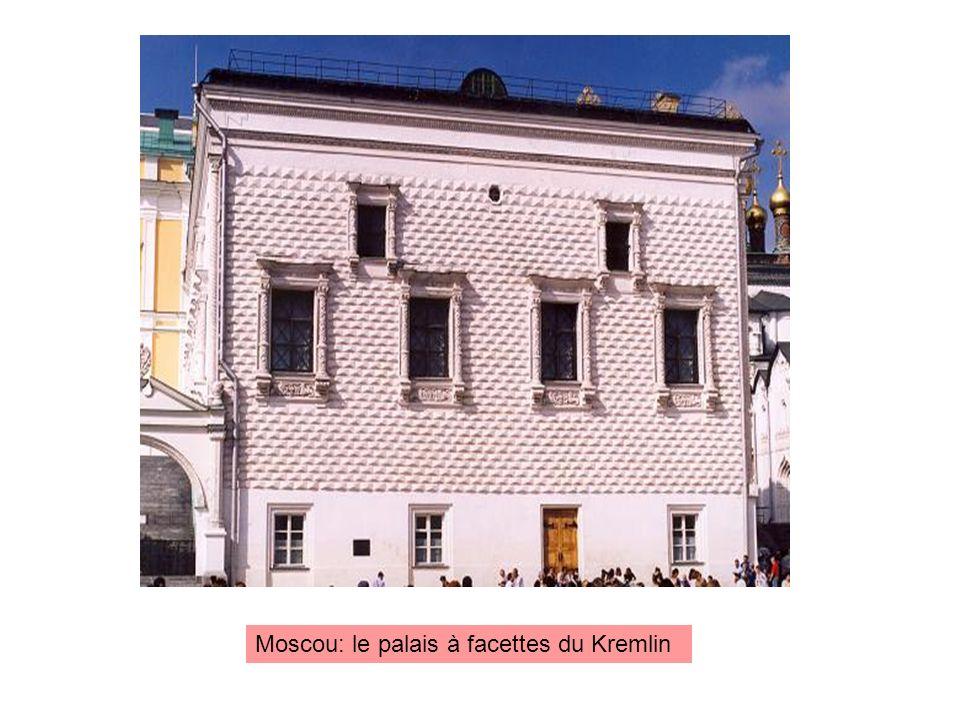 Moscou: le palais à facettes du Kremlin