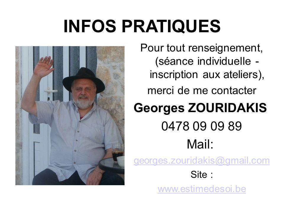 INFOS PRATIQUES Georges ZOURIDAKIS 0478 09 09 89 Mail: