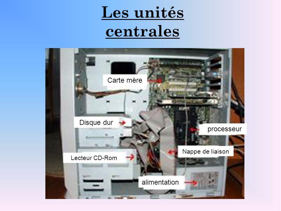 Les unités centrales Carte mère Disque dur processeur alimentation