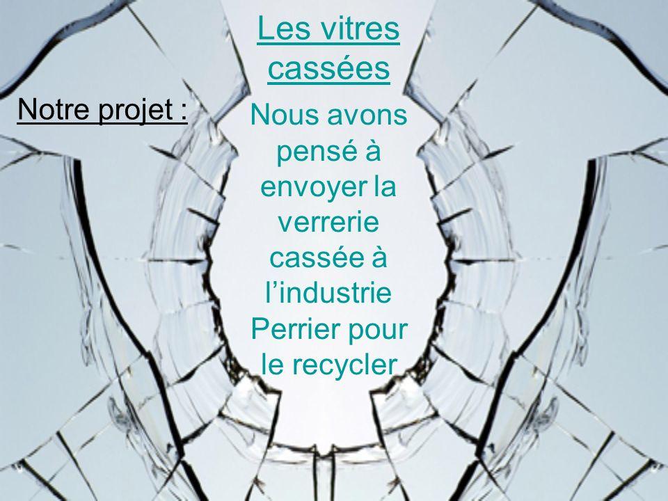 Les vitres cassées Notre projet :