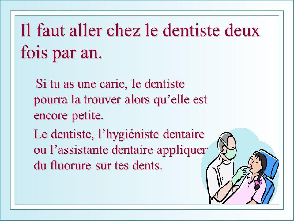 Il faut aller chez le dentiste deux fois par an.