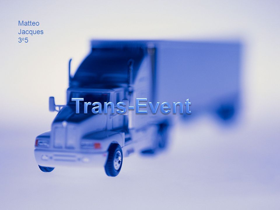 Matteo Jacques 3e5 Trans-Event