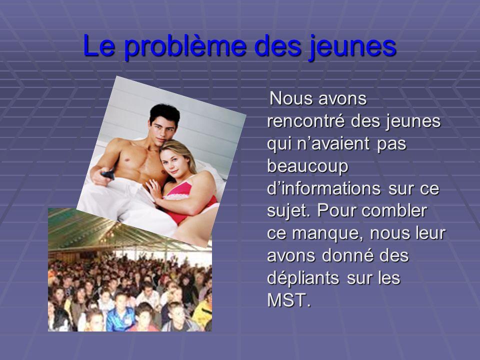 Le problème des jeunes