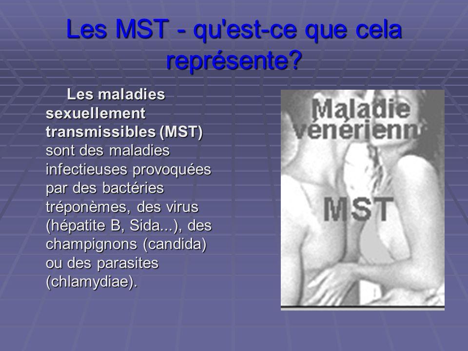 Les MST - qu est-ce que cela représente