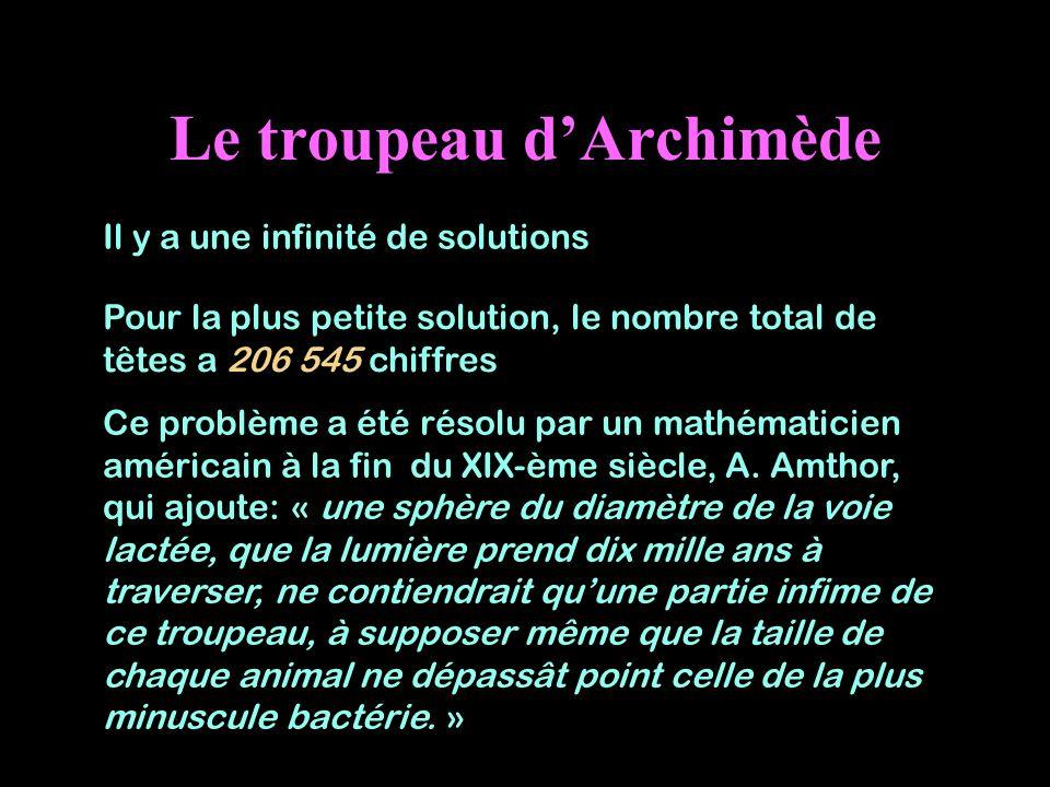 Le troupeau d'Archimède