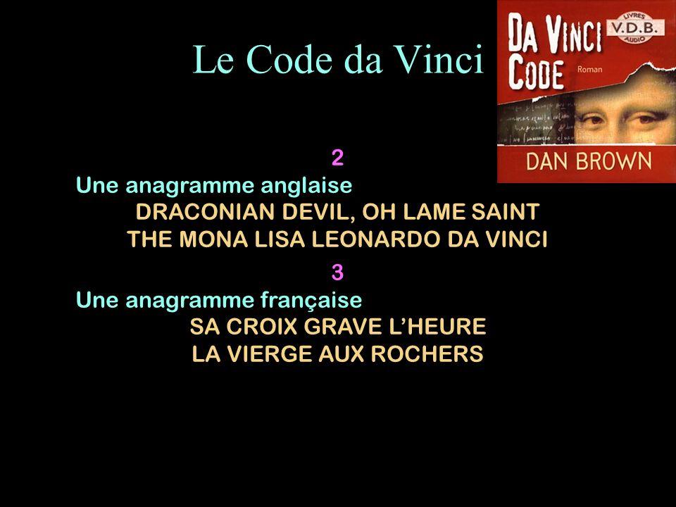 Le Code da Vinci 2 Une anagramme anglaise