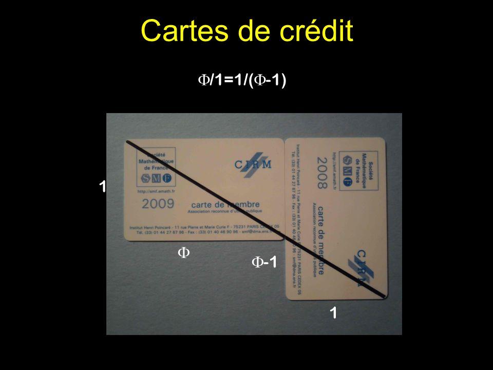 Cartes de crédit /1=1/(-1) 1 Communiqué par François Gramain  -1 1