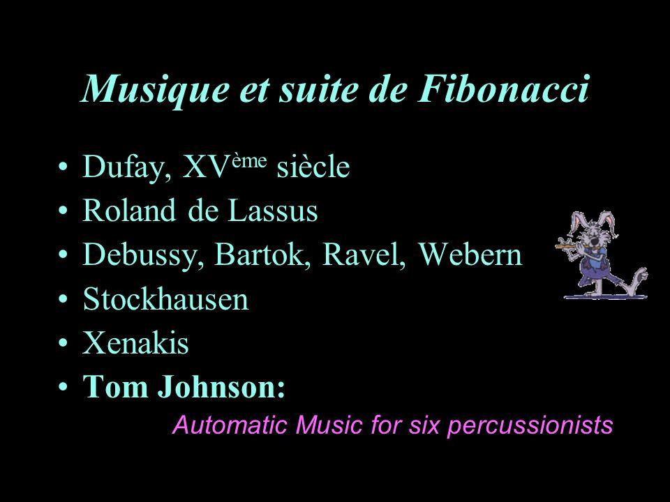 Musique et suite de Fibonacci