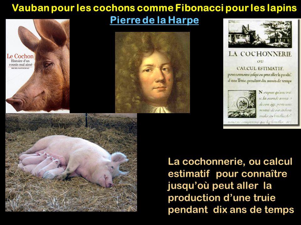 Vauban pour les cochons comme Fibonacci pour les lapins