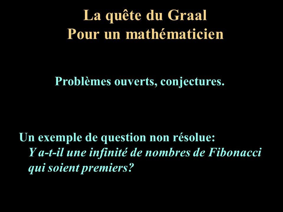 La quête du Graal Pour un mathématicien