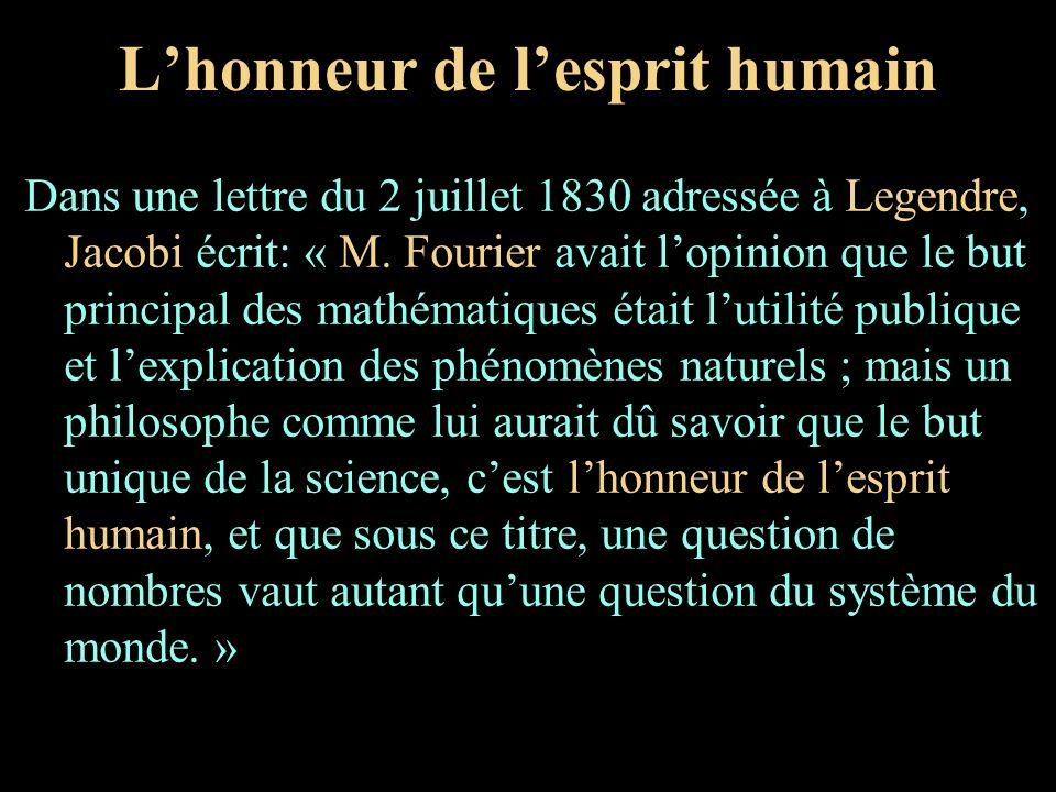 L'honneur de l'esprit humain