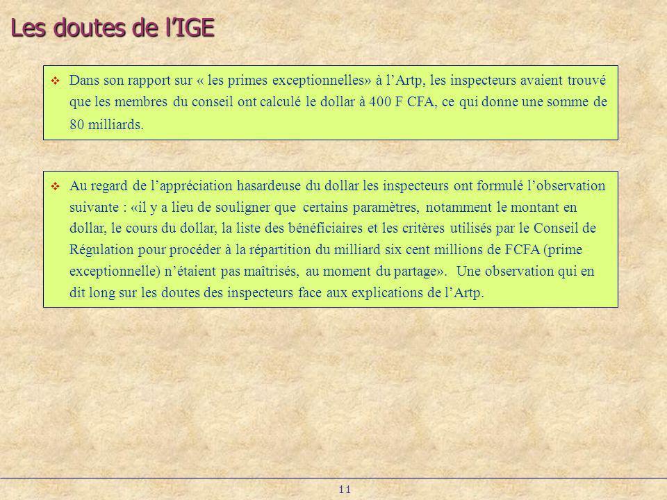 Les doutes de l'IGE