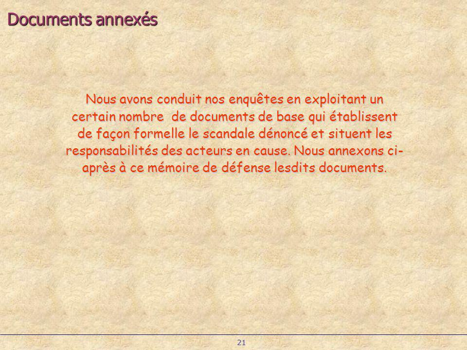 Documents annexés