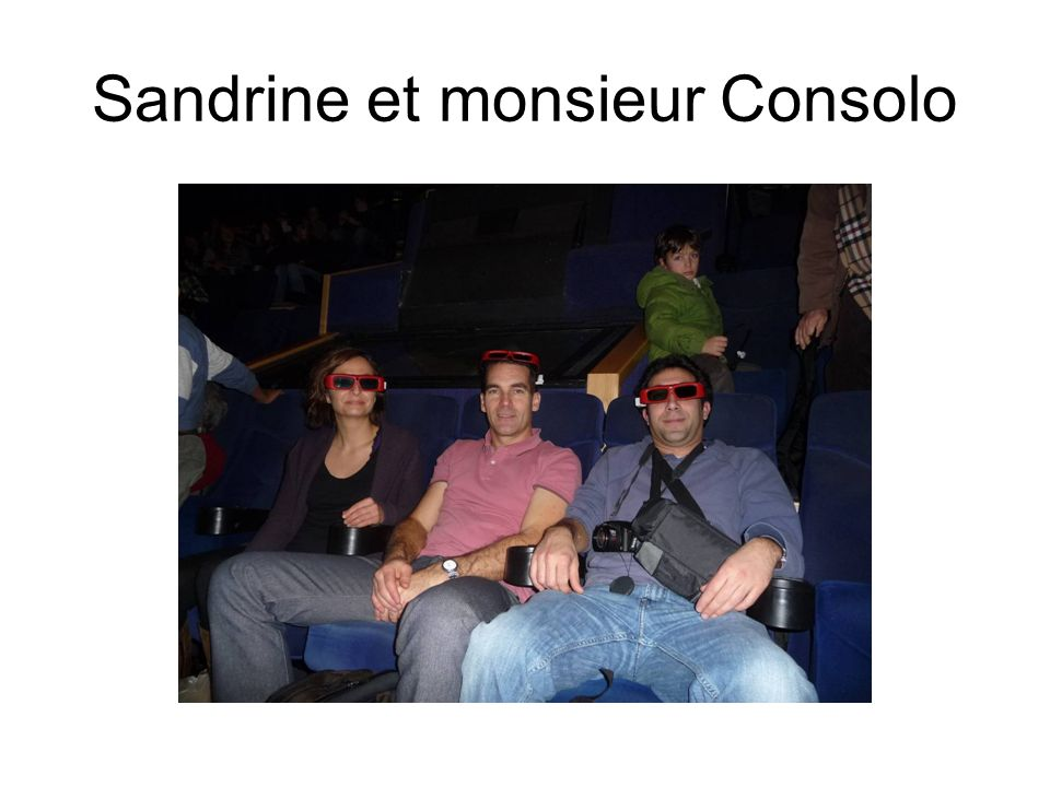 Sandrine et monsieur Consolo