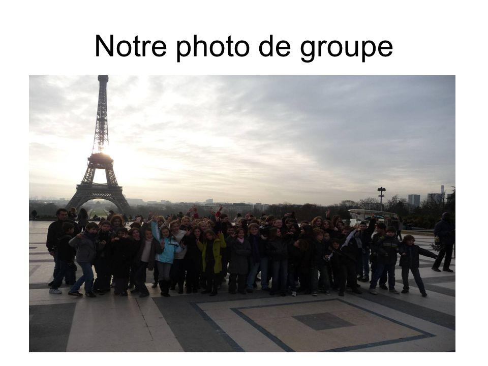 Notre photo de groupe