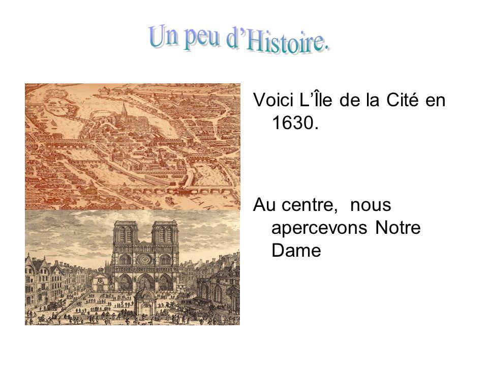 Un peu d'Histoire. Voici L'Île de la Cité en 1630.