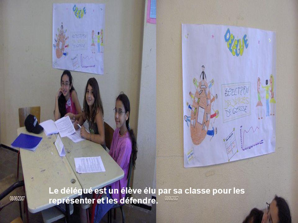 Les élèves si-dessous nous ont expliqué les fonctions de délégué