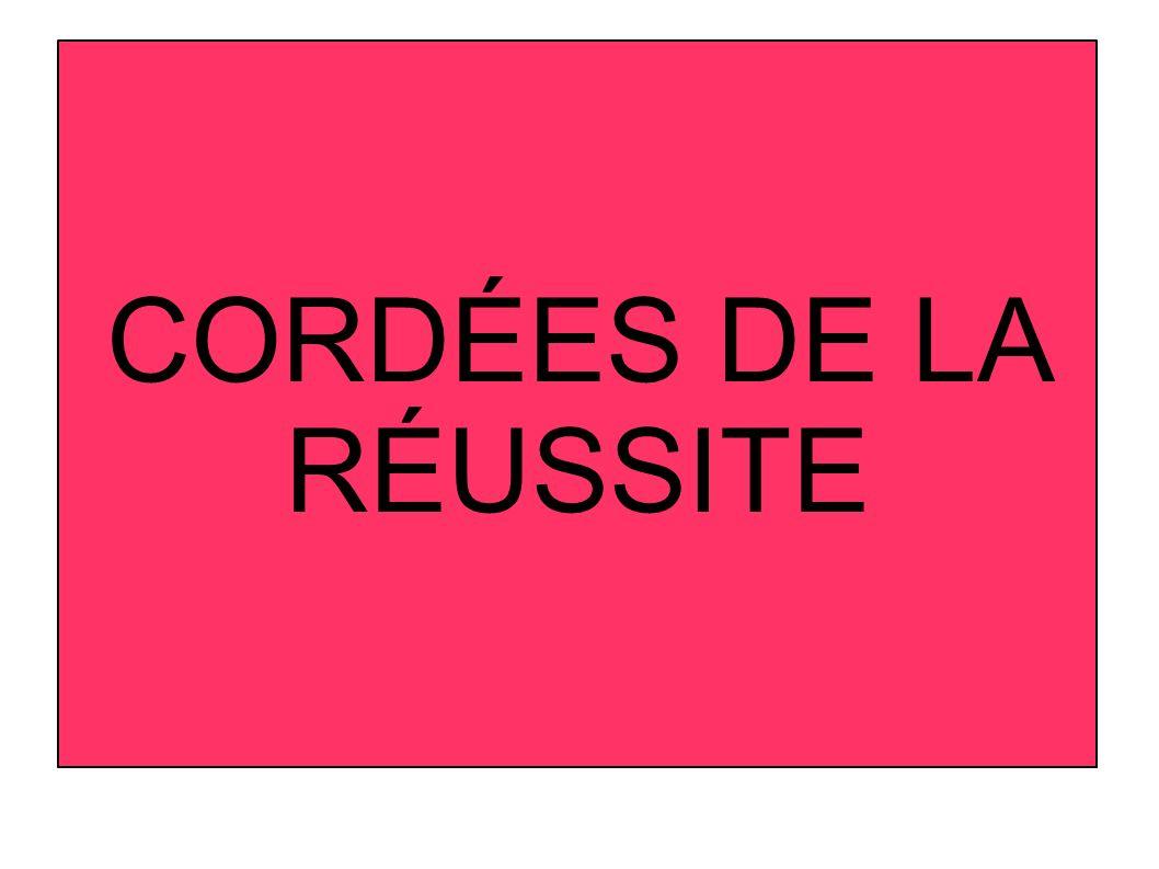 CORDÉES DE LA RÉUSSITE