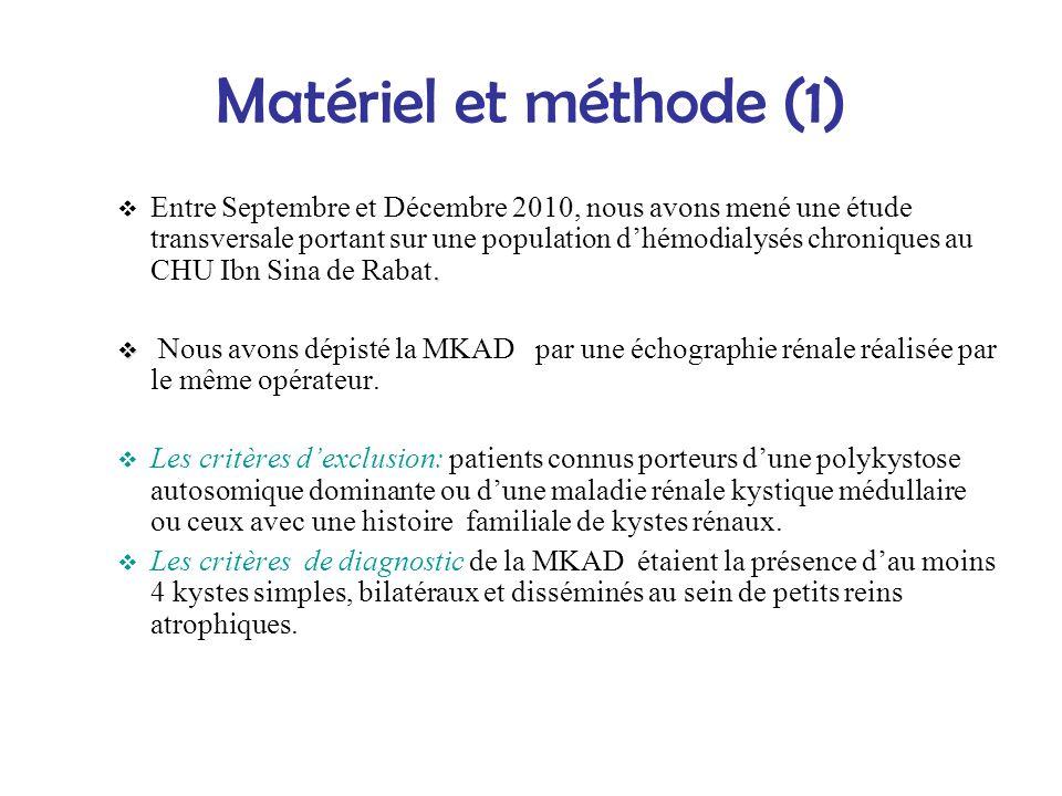 Matériel et méthode (1)