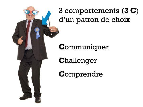 3 comportements (3 C) d'un patron de choix