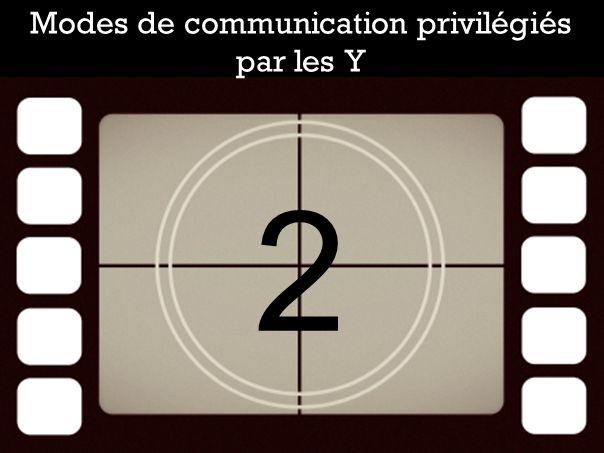 Modes de communication privilégiés par les Y