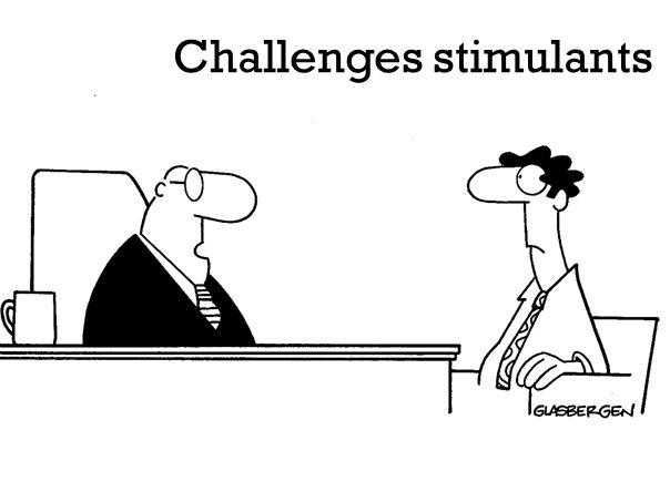 Challenges stimulants