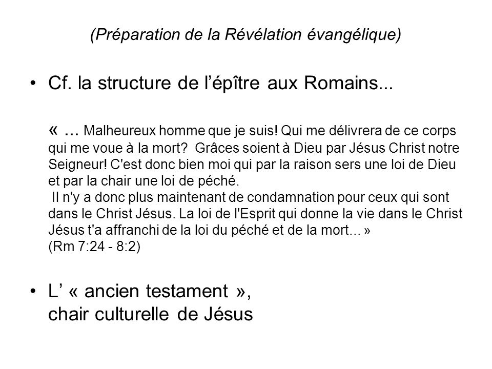 (Préparation de la Révélation évangélique)