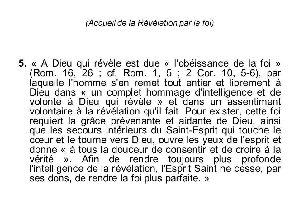 (Accueil de la Révélation par la foi)