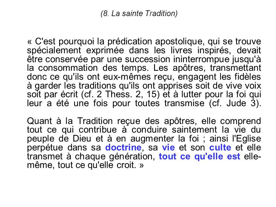 (8. La sainte Tradition)