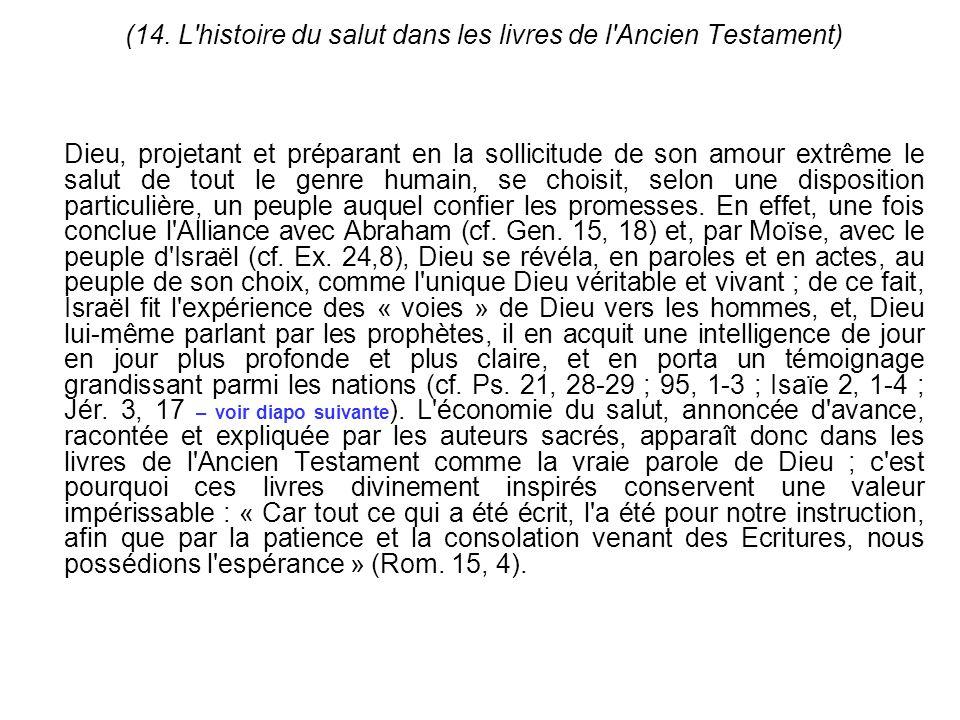 (14. L histoire du salut dans les livres de l Ancien Testament)