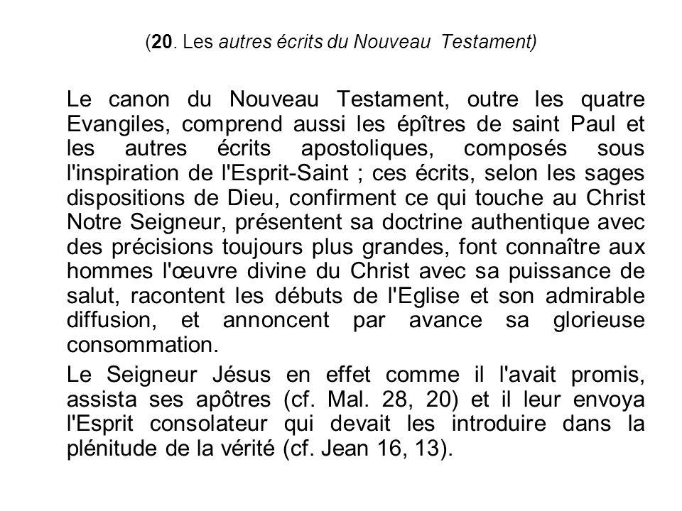 (20. Les autres écrits du Nouveau Testament)