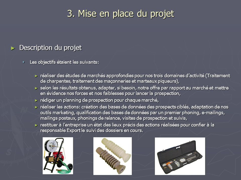 3. Mise en place du projet Description du projet