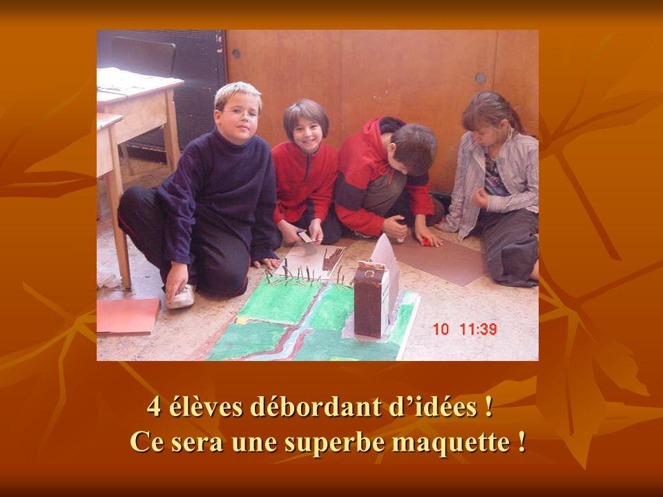 4 élèves débordant d'idées ! Ce sera une superbe maquette !