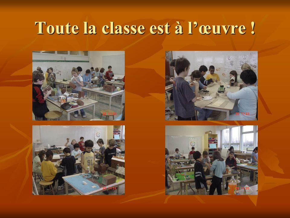 Toute la classe est à l'œuvre !