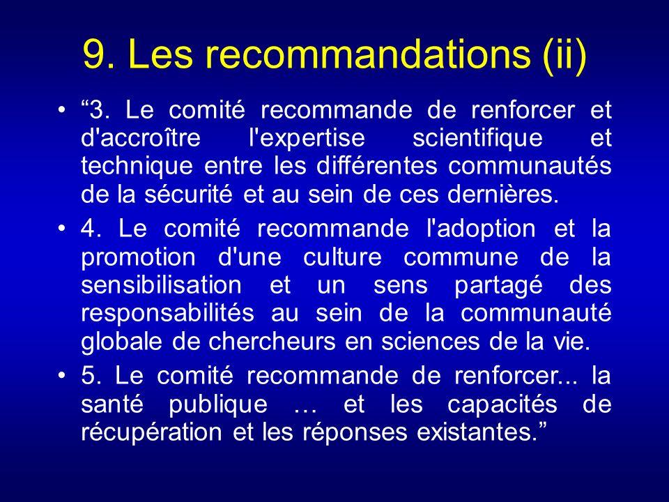 9. Les recommandations (ii)