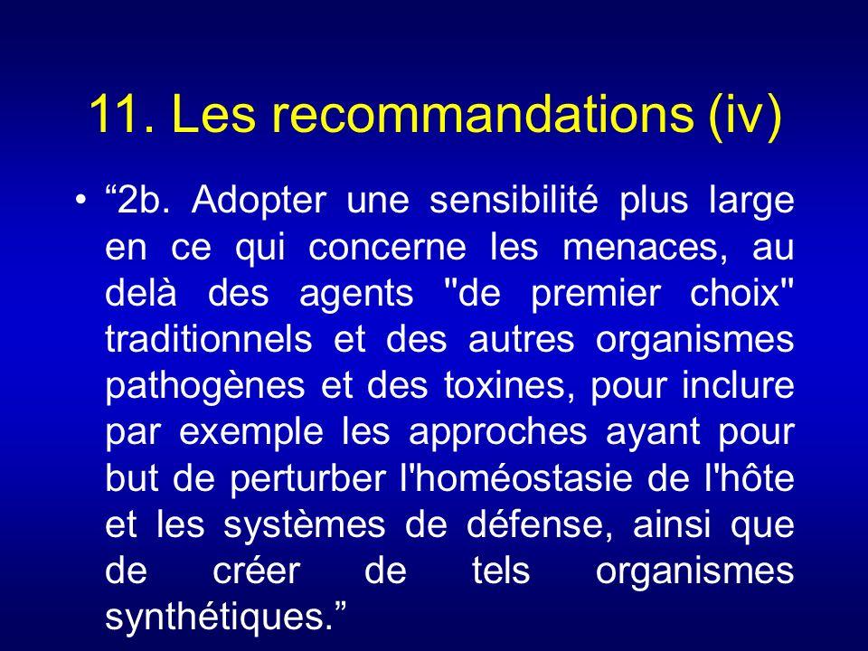 11. Les recommandations (iv)
