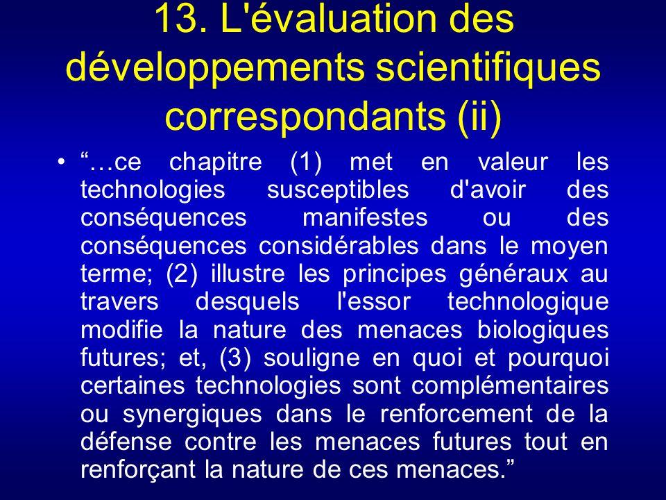 13. L évaluation des développements scientifiques correspondants (ii)