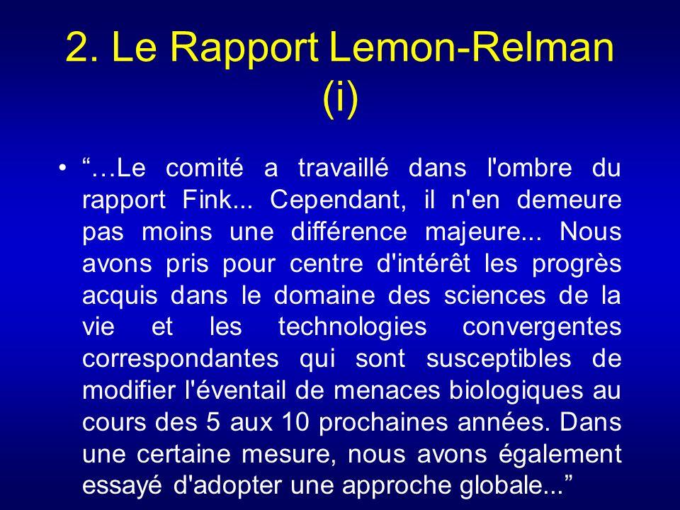 2. Le Rapport Lemon-Relman (i)