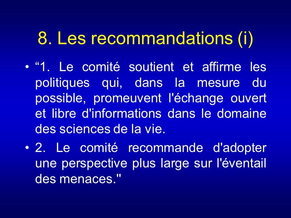 8. Les recommandations (i)