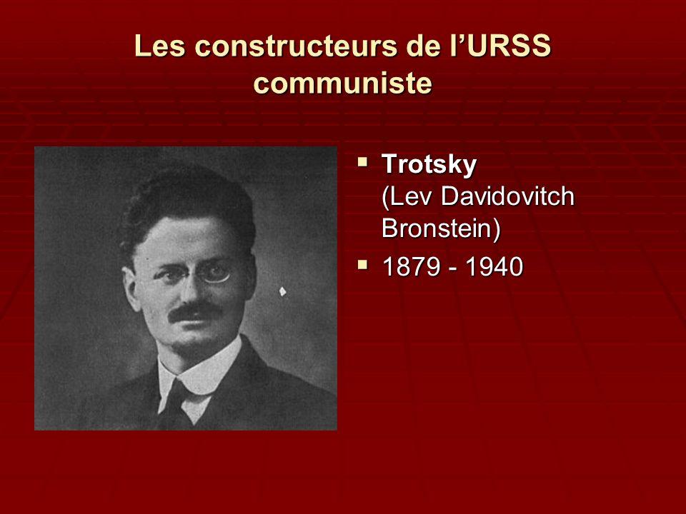 Les constructeurs de l'URSS communiste