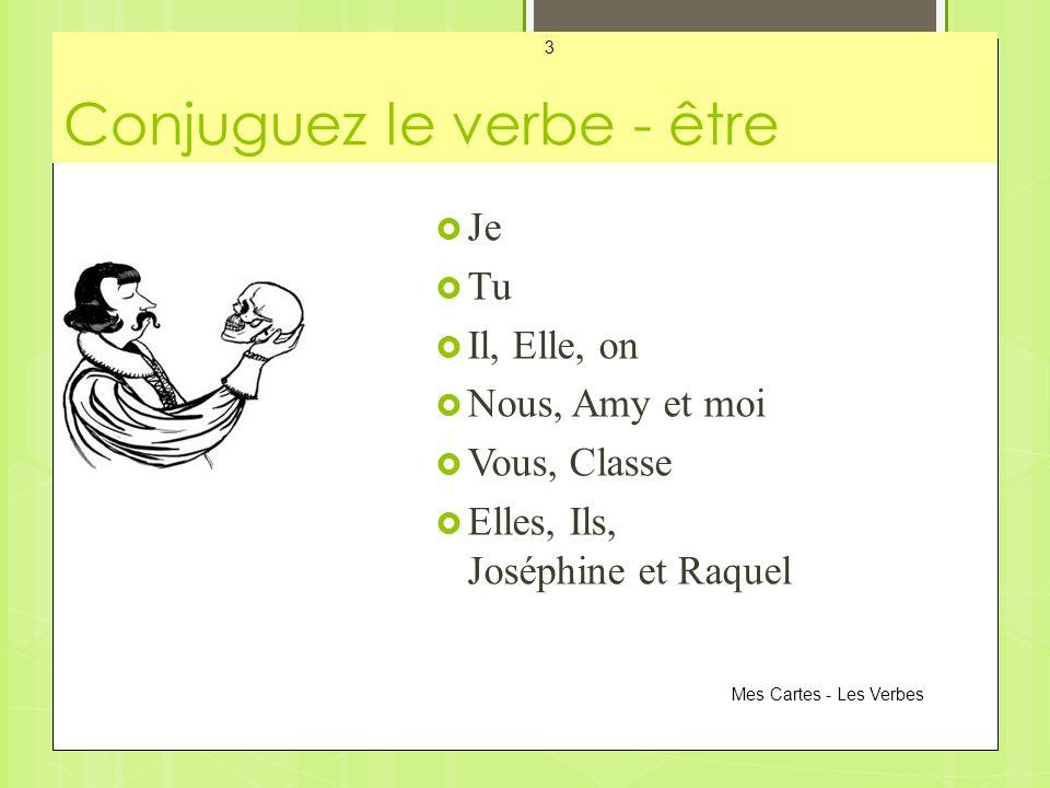 Conjuguez le verbe - être